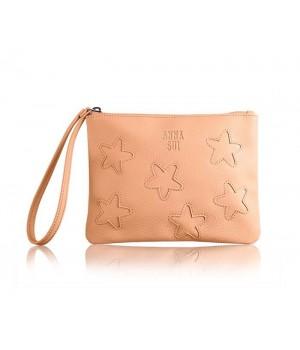 粉橘星星化妝包