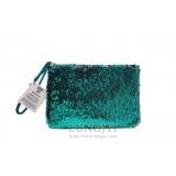 綠色亮片化妝包