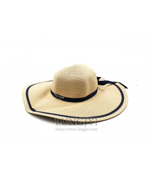 ROCHAS米色圓形草帽