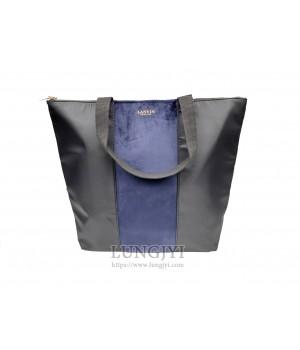 黑藍色雙色大托特包
